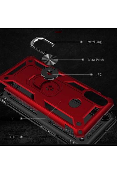 Zore Samsung Galaxy A10s Kılıf Vega Silikon - Kırmızı