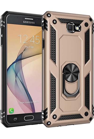Zore Samsung Galaxy J7 Prime Kılıf Vega Silikon - Gold