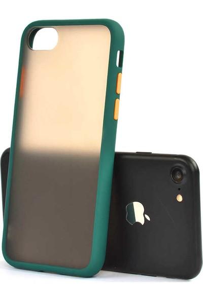 Zore Apple iPhone 8 Kılıf Silikon - Koyu Yeşil