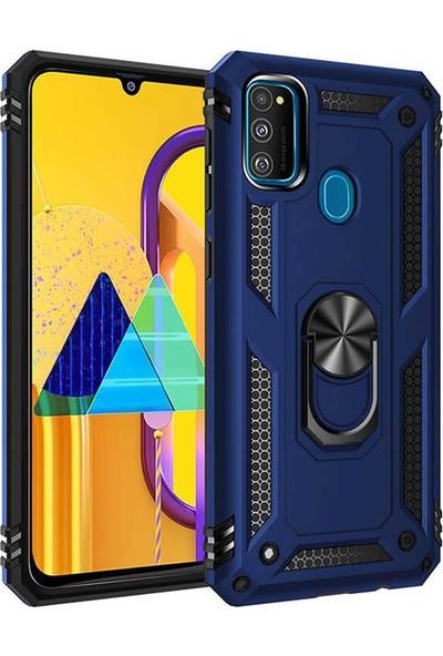 Zore Samsung Galaxy M30S Kılıf Vega Silikon - Mavi