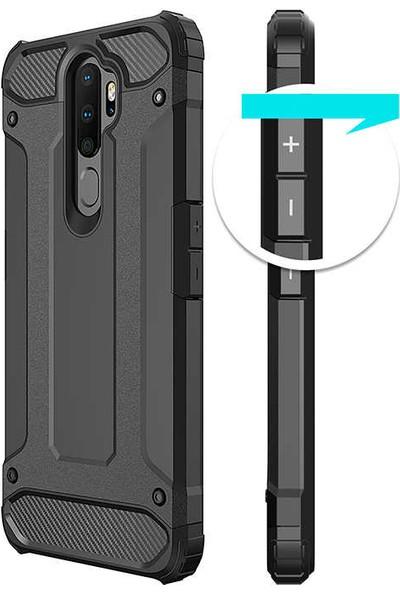 Zore Oppo A9 2020 Kılıf Crash Silikon - Siyah