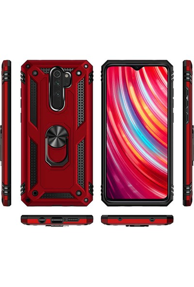 Zore Xiaomi Redmi Note 8 Pro Kılıf Vega Silikon - Kırmızı