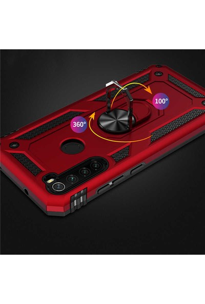 Zore Xiaomi Redmi Note 8 Kılıf Vega Silikon - Kırmızı
