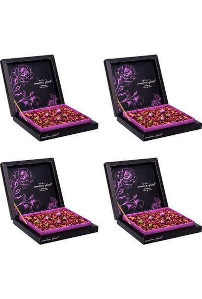 Menderes Efendi - Gül Yapraklarıyla Kaplı Güllü Lokum 500 gr X 4