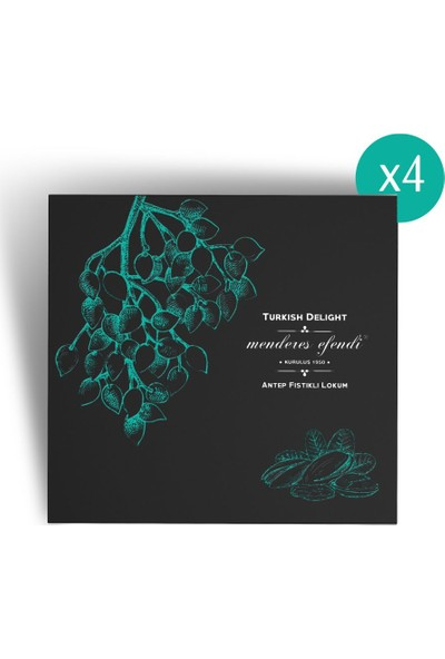 Menderes Efendi - Antep Fıstıklı Lokum 500 gr X 4
