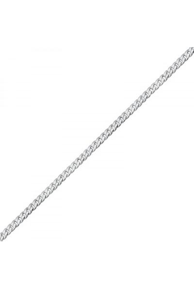 Tokat Gümüş 925 Gümüş 40 Mikron Gurmet Zincir Kolye - 45Cm