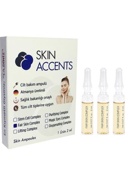Skin Accents Leke Açıcı Ampul Dermaroller Dermapen İçin 3 Adet Alman Cilt Bakım Serum 2 ml