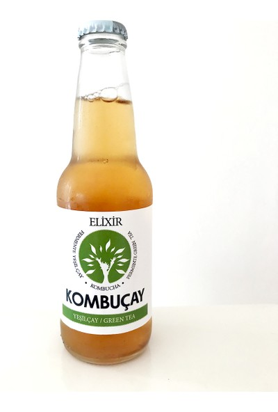 Elixir Kombucha Yeşilçay 250 ml 12 Adet