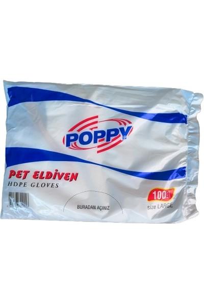 Poppy Hdpe Şeffaf (Poşet) Pet Eldiven 100'lü 10 Pakette 1000 Adet 800 gr