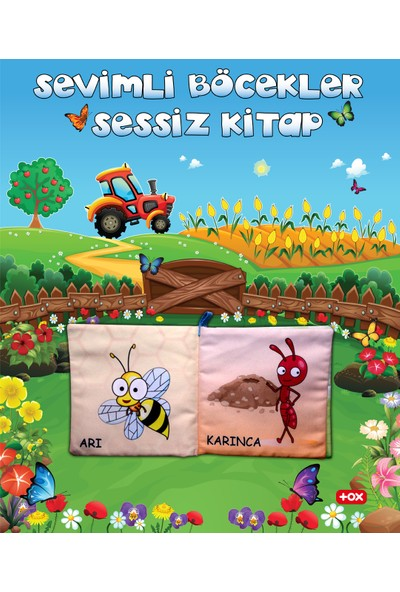 Tox Sevimli Böcekler Kumaş Sessiz Kitap