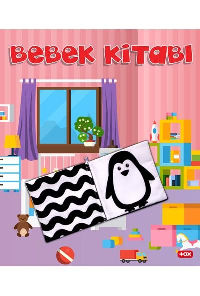 Tox Bebek Siyah-Beyaz Kumaş Sessiz Kitap - Bez Kitap