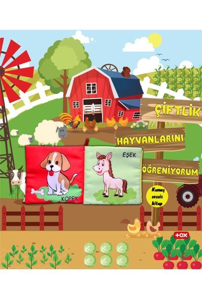 Tox Çiftlik Hayvanları Kumaş Sessiz Kitap - Bez Kitap