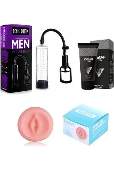 Lovetoy Penis Pompa Seti - Penis Pompası + Vajina Başlık + Penis Kremi