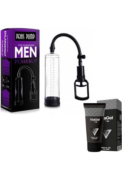 Xise Men Pump 22 cm Silikon Girişli Penis Pompası + 50 ml Viagel Krem
