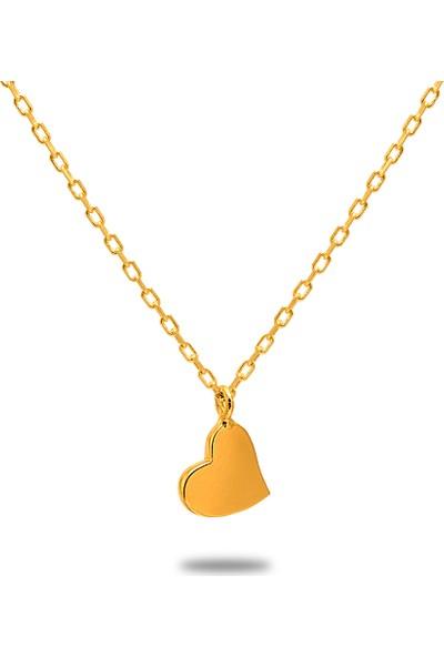 Dal Kuyumculuk Kalp Kolye 14 Ayar Altın