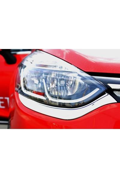 Seda Dizayn Oto Renault Clio 4 Krom Far Kaşı 2 Parça 2012 Sonrası