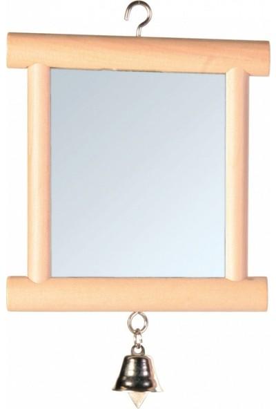 Trixie Ahşap Çerçeveli Kuş Aynası Zilli 9 x 10 Cm