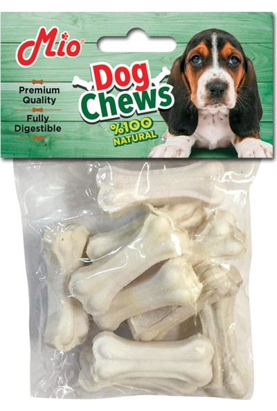 Mio Beyaz Press Köpek Çiğneme Kemik 5 Cm 10 Gr 10'Lu