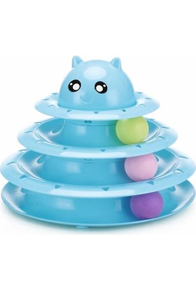 Harry Yaya Üç Katlı Kedi Başlı Toplu Kedi Oyun Kulesi