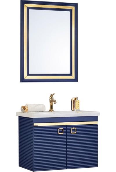 Gold Ban-Yom Clivo 80 cm Banyo Dolabı + Seramik Lavabo