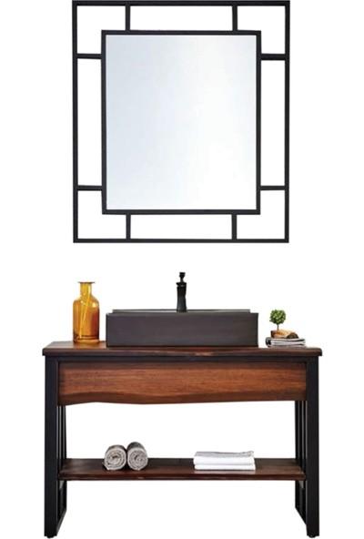 Gold Ban-Yom Diamos 110 cm Banyo Dolabı + Seramik Lavabo