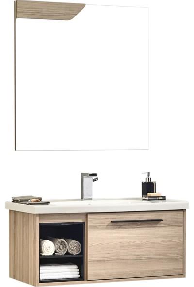 Gold Ban-Yom Fernande 100 cm Banyo Dolabı + Seramik Lavabo