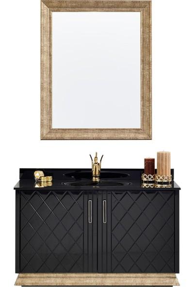 Gold Ban-Yom Ottoman 110 cm Banyo Dolabı + Seramik Lavabo