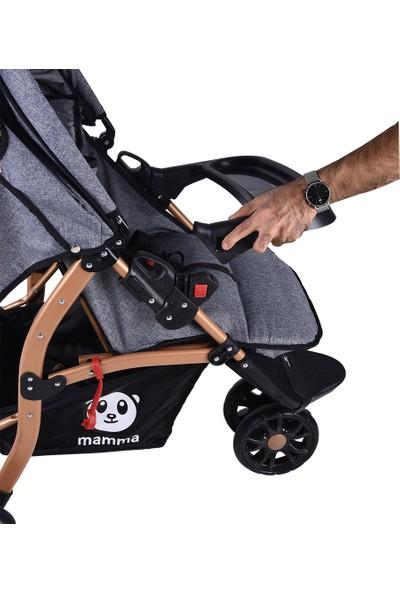 Mamma Panther Gold Jogger 3 Tekerlekli Deluxe Bebek Arabası - Gri