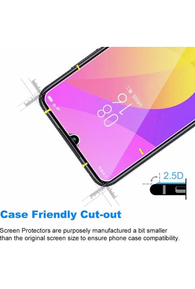 Case 4U Xiaomi Mi 9 Lite Cam Ekran Koruyucu Nano Şeffaf