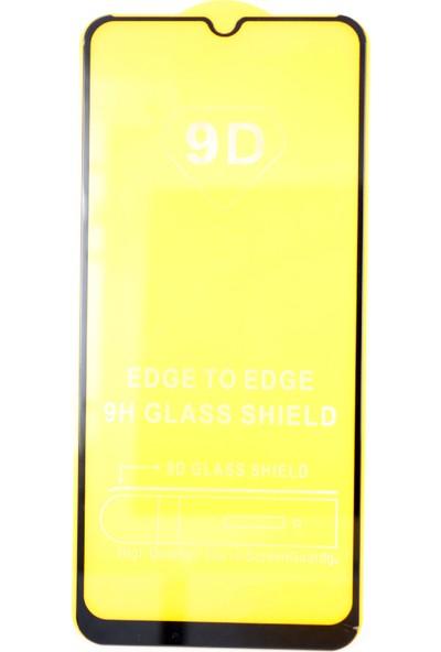 Case 4U Oppo A5-A9 2020 5D Kavisli Temperli Cam Ekran Koruyucu Film Siyah