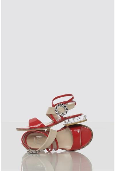 İlvi Orenda Kadın Sandalet Kırmızı Rugan