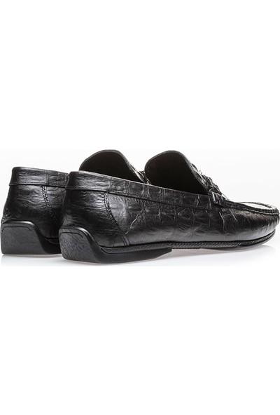 İlvi Robert Erkek Makosen Ayakkabı Siyah