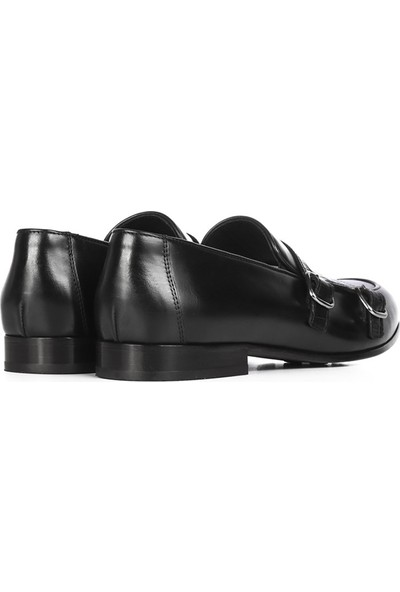 İlvi Rosha Erkek Makosen Ayakkabı Siyah
