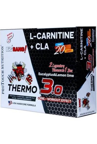 Protouch Nutrition Bigbang Thermo 3.0 L Carnitine ( Lkarnitin ) + Cla 100 ml x 20 Ampül Okaliptus & Limon