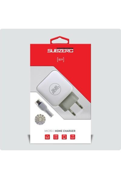 Subzero Micro USB Hızlı Şarj Aleti SG19/SG41 - Beyaz