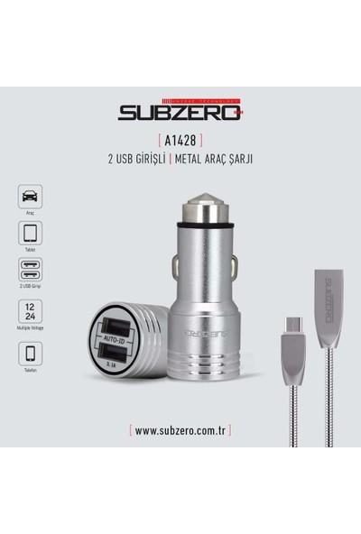 Subzero Apple iPhone Lightning Araç Şarj Cihazı A1428