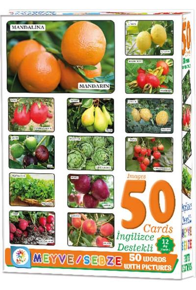 Laço Baby 50 Card Meyve Sebze İngilizce Destekli Oyun Kartları