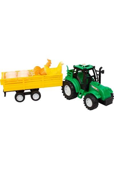 Kayyum Oyuncak Yumurta Taşıyan Traktör Seti