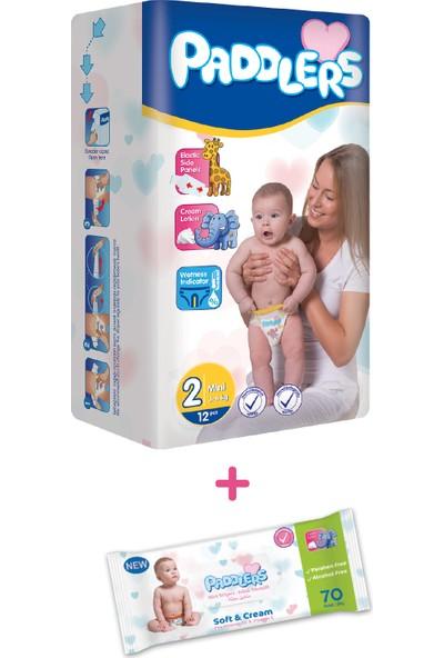 Paddlers 1+1 Deneme Seti - Bebek Bezi(Mini) + Islak Mendil
