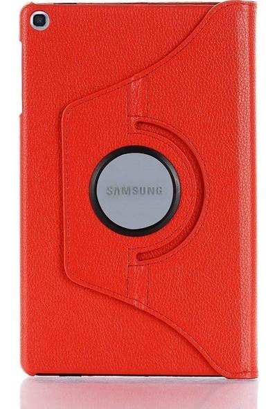 "Engo Samsung Galaxy Tab A SM-T290 SM-T297 8"" Kılıf 360 Derece Standlı Tablet Kılıfı Kırmızı"