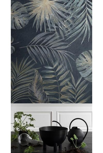 Duvar Kağıdı Marketi Botanik Yağlı Boya Yaprakları ve Palmiye Yaprakları Duvar Kağıdı