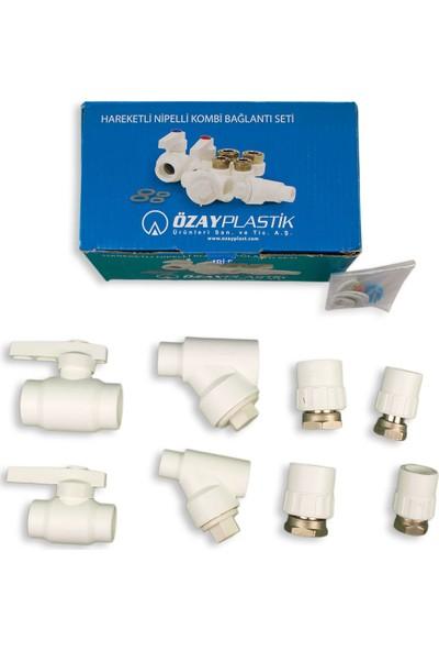 Özay Plastik Hareketli Nipelli Kombi Bağlantı Seti (8 Li Düz)