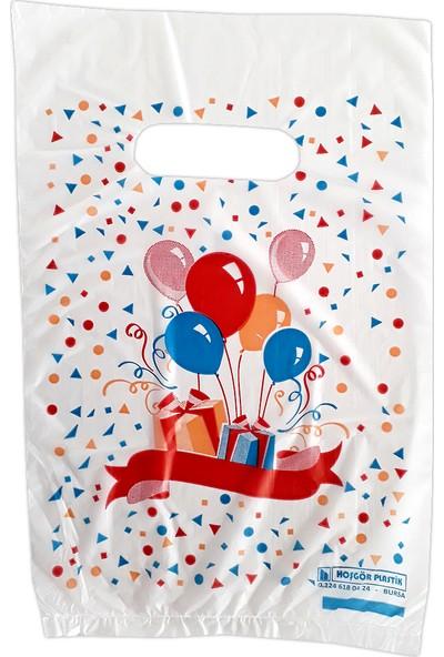 Hoşgör Plastik El Geçme Blok Poşet Eczane Poşeti Balonlu Beyaz 23X33 (5'li PAKET:500 )
