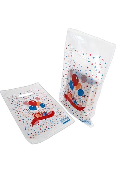 Hoşgör Plastik El Geçme Blok Poşet Eczane Poşeti Balonlu Beyaz 15X25 (5'li PAKET:500 )