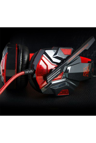 Ally Plextone PC780 Kablolu Oyuncu Kulaklık AL-25998 Siyah - Kırmızı