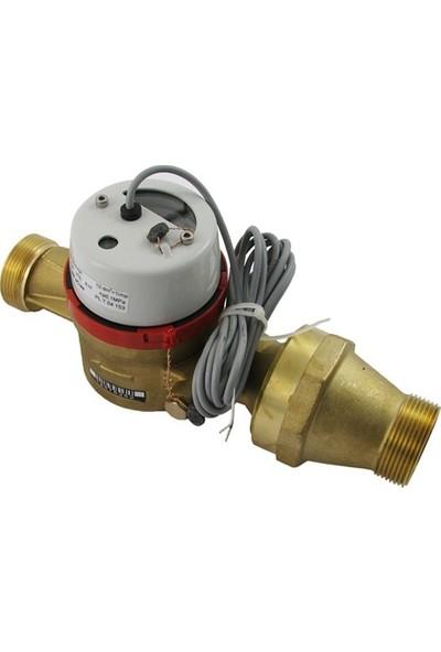 Powogaz JS130-32 / DN32 Pulserlı Sıcak Su Sayacı 130°C Reed Pulser