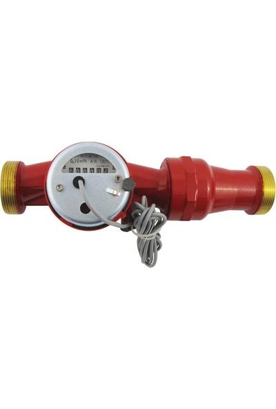 Powogaz JS130-40 / DN40 Pulserlı Sıcak Su Sayacı 130°C Reed Pulser