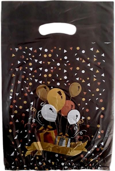 Hoşgör Plastik El Geçme Blok Poşet Eczane Poşeti Balonlu Siyah 23X33 (5'li PAKET:500 )