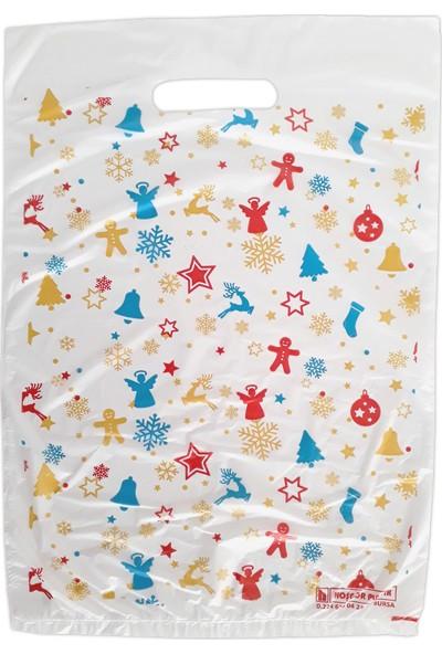 Hoşgör Plastik El Geçme Blok Poşet Eczane Poşeti Yılbaşı Beyaz 20X30 (KOLI:5000 )