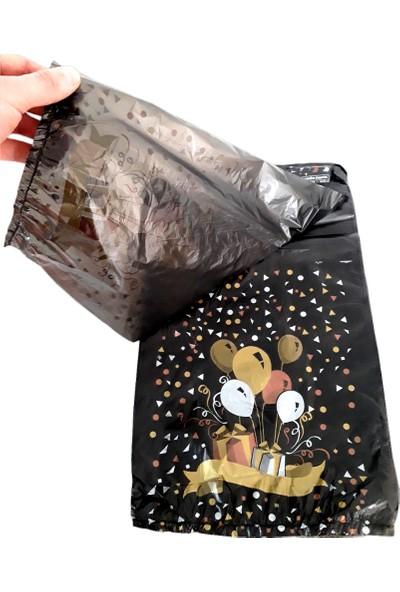 Hoşgör Plastik El Geçme Blok Poşet Eczane Poşeti Balonlu Siyah 23X33 (KOLI:5000 )